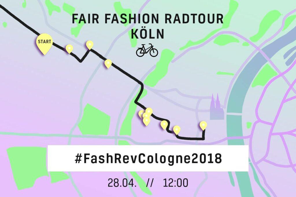Fair Farhion Radtour - Grafik: Carolin Schweizer
