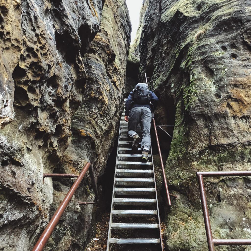 Sächsische Schweiz Pfaffenstein Aufstieg