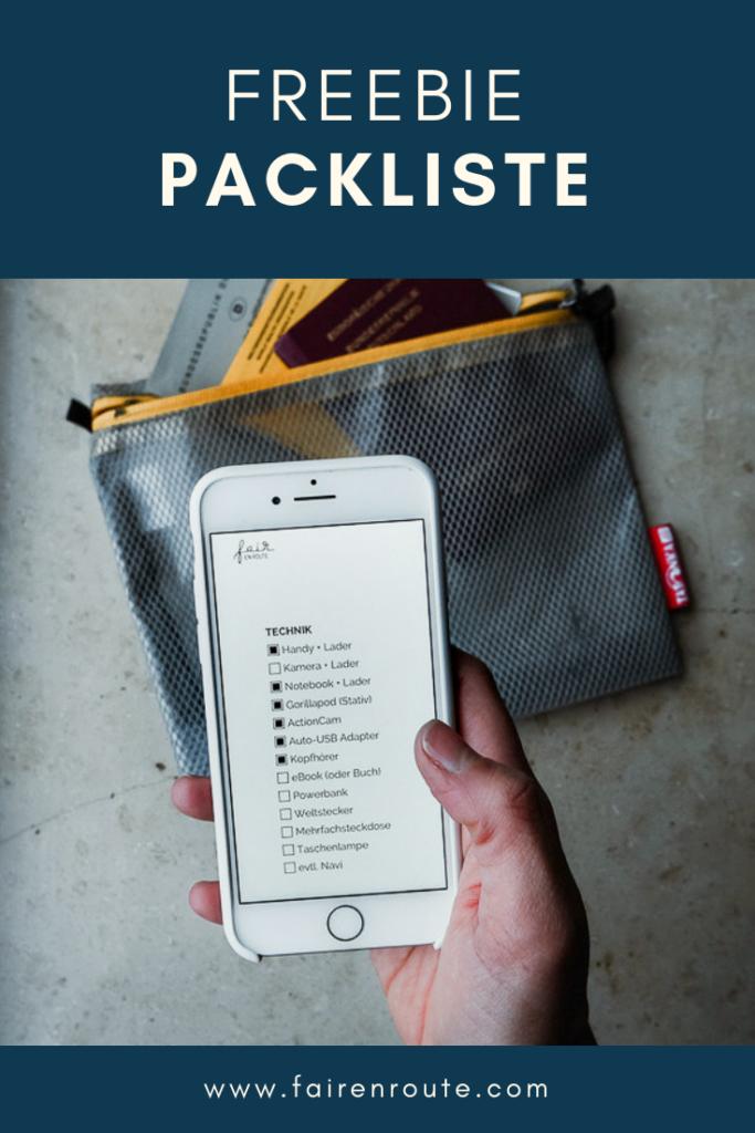Packliste freebie pin it