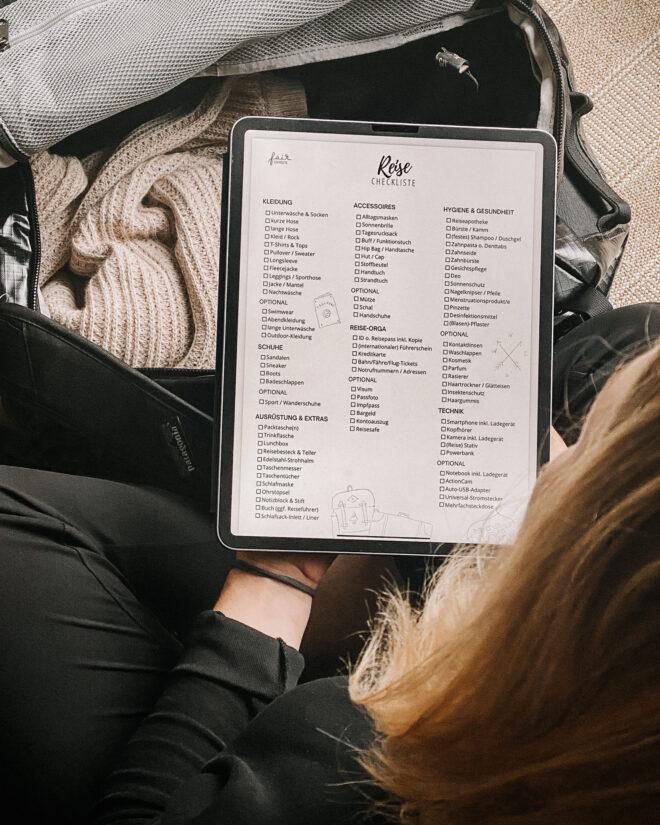 Reise Checkliste