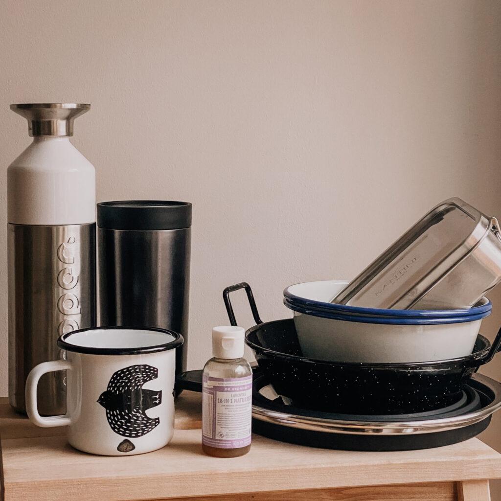 Nachhaltiges Vanlife Küchenaustattung