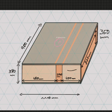 Minicamper Ausbau Skizze